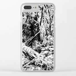 Sasquatch is camouflaged Clear iPhone Case