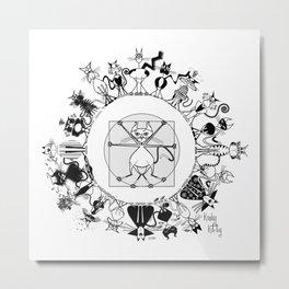 Kinky Kitty Mandala Metal Print