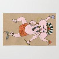 ganesha Area & Throw Rugs featuring Ganesha by Erika Rier