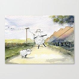 Slackline Canvas Print