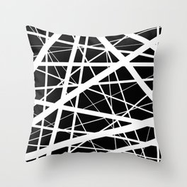 Entrapment - Black and white Abstract Throw Pillow
