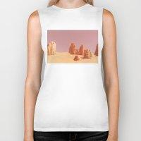 desert Biker Tanks featuring Desert by CaptClare