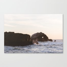 Sutro Baths at sunset Canvas Print