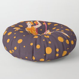 orange oddly Floor Pillow