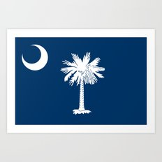 Flag of South Carolina - High Quality image Art Print