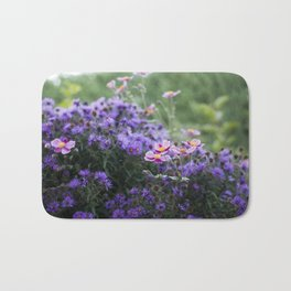 Asters and Japanese Anemones Bath Mat