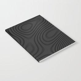 Organic Abstract 01 BLACK Notebook
