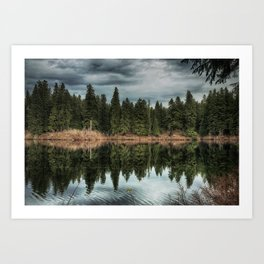 Across the Lake Art Print