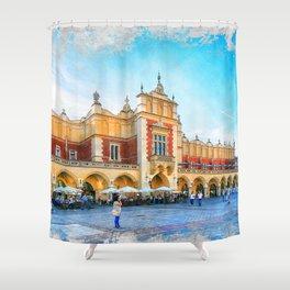 Cracow art 15 #cracow #krakow #city Shower Curtain