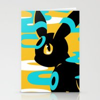 umbreon Stationery Cards featuring #197 - Umbreon (shiny ver.) by Solis