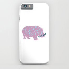 Hipster Hippo iPhone Case