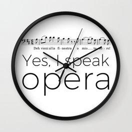 I speak opera (baritone) Wall Clock