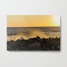 SunsetWaves Metal Print