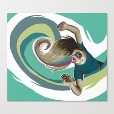 Donut try to understand (the wave) Canvas Print