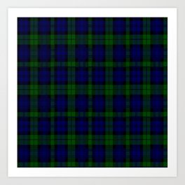 "CAMPBELL CLAN  ""BLACK WATCH"" SCOTTISH  TARTAN DESIGN Art Print"