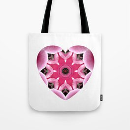 Mandala Heart Tote Bag