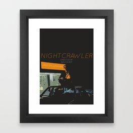 NIGHTCRAWLER Framed Art Print