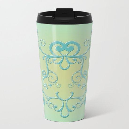 Mint tendrils emblem Metal Travel Mug