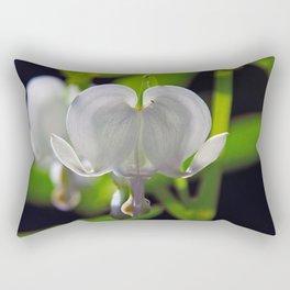 White Bleeding Heart Rectangular Pillow