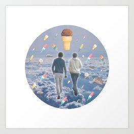 Bill & Nick's Ice Cream Adventure! Art Print