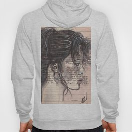 Handwritten letter with portrait Hoody