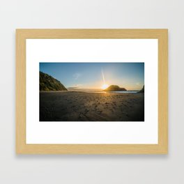 Back Beach Framed Art Print