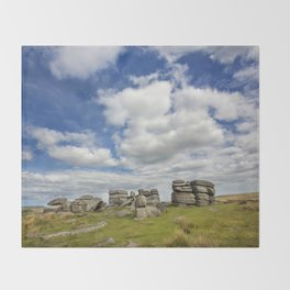Dartmoor Tor Throw Blanket