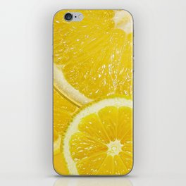 Juicy Lemon Slices Fruit Design iPhone Skin