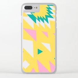 Geometric tropicals Clear iPhone Case