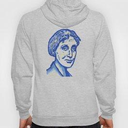 Virginia Woolf in Blue Hoody