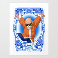 dragonball Art Prints featuring DragonBall Z - Human House by Art of Mike