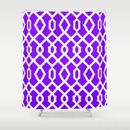 Grille No. 3 -- Indigo Shower Curtain
