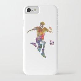 man soccer football player 09 iPhone Case