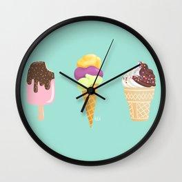 Ice cream for three Wall Clock