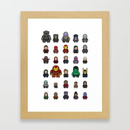 All Characters Framed Art Print