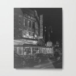 Old Homestead Steakhouse B&W Metal Print