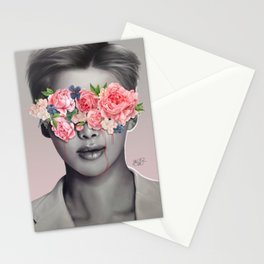Sad eyes Stationery Cards