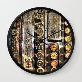 Antique cash register  Wall Clock