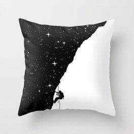 Night climbing Throw Pillow