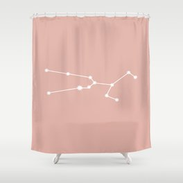 Taurus Zodiac Constellation - Pink Rose Shower Curtain
