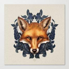 Fox Embellished Canvas Print