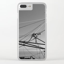 Trawler Gear Donegal bw Clear iPhone Case