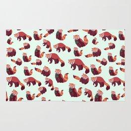 Red Panda Pattern Rug