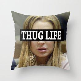 """Lindsay Lohan """"Thug Life"""" **Signed** Throw Pillow"""