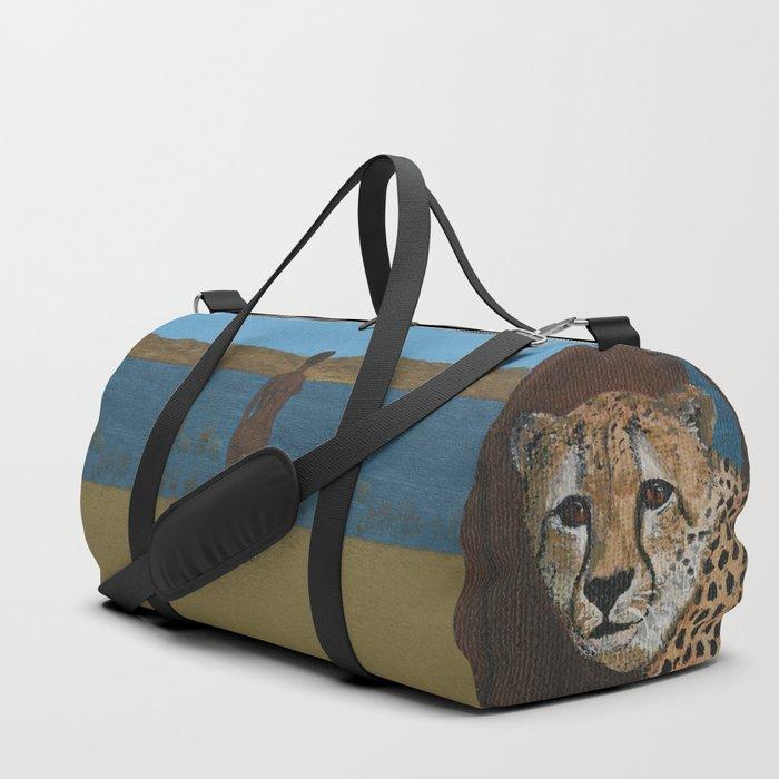 Woman & Cheetah Duffle Bag