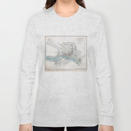 Vintage Map of Richmond Virginia (1864) Long Sleeve T-shirt