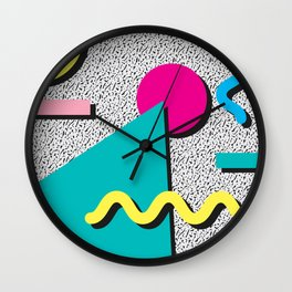 Abstract 1980's Wall Clock
