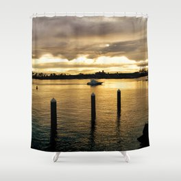 Settling in the Bay Shower Curtain