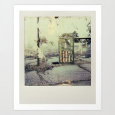 Abandoned Amusement Park 01 Art Print