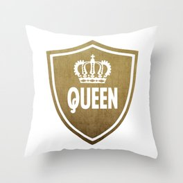 Queen & King (For Her & For Him) Throw Pillow